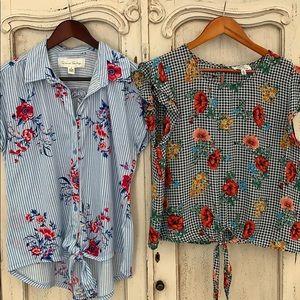 Tie- front summer tops